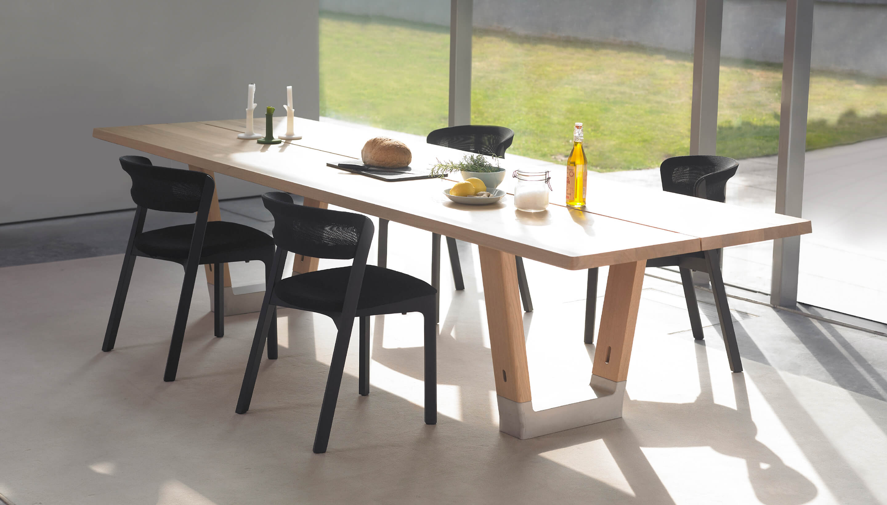 SALE | Arco Cafe Chair | Eiche Schwarz, Leder Naturel Schwarz