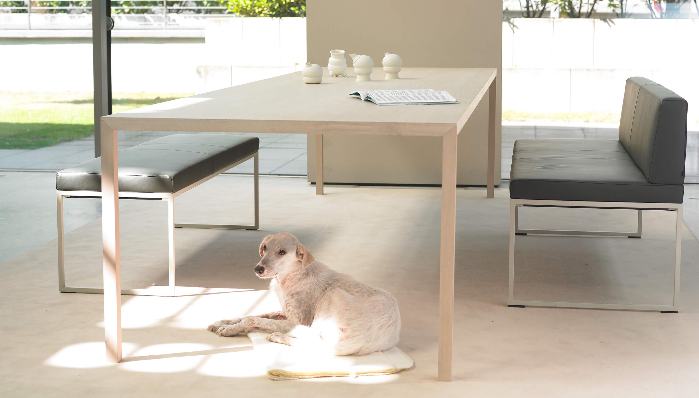 SALE | Arco Slim+ | B 280 x D 105 x H 75 cm | Fenix HPL Weiß, 30 Eiche natur