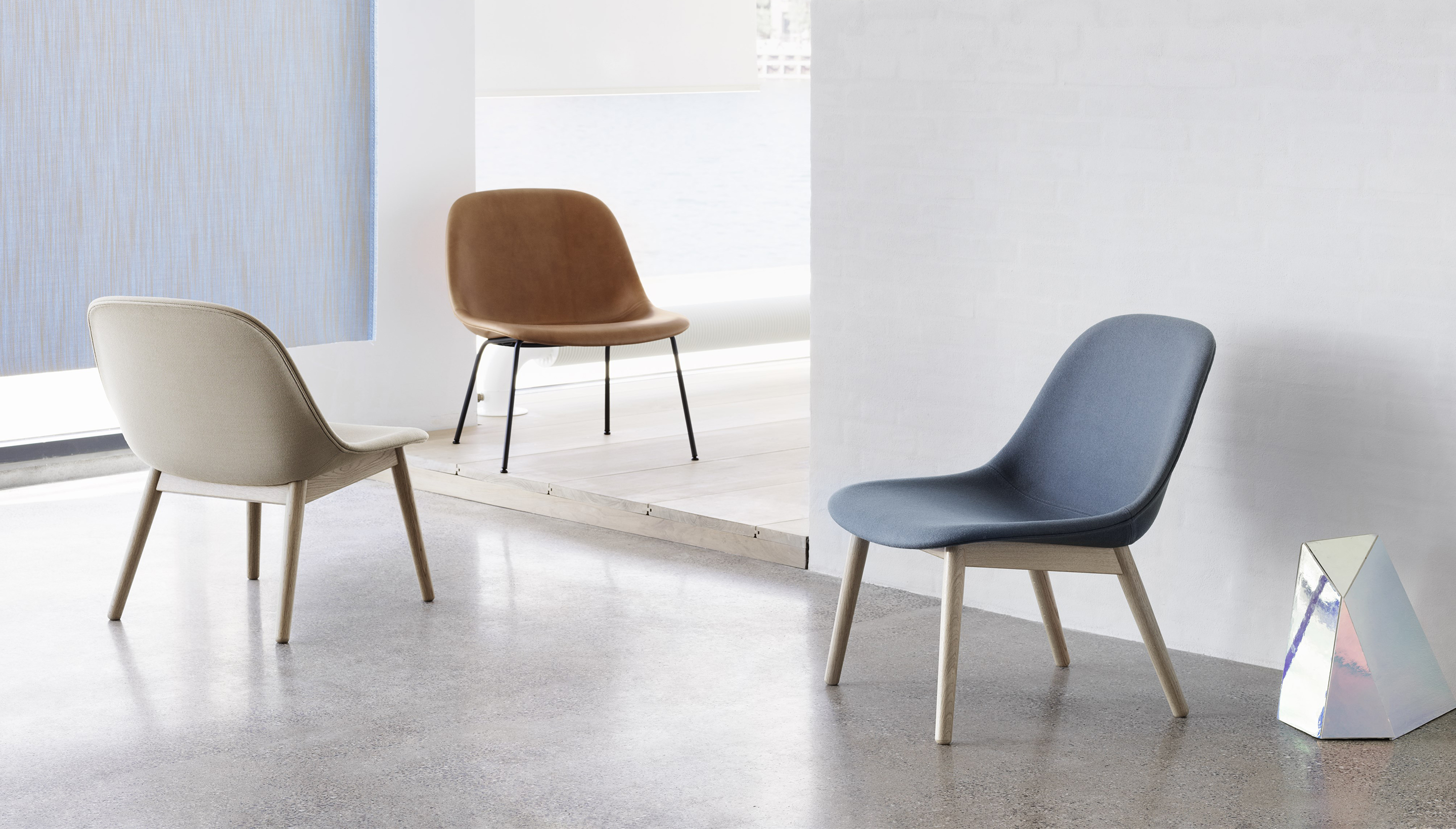 Muuto Fiber Lounge Chair | Wood base
