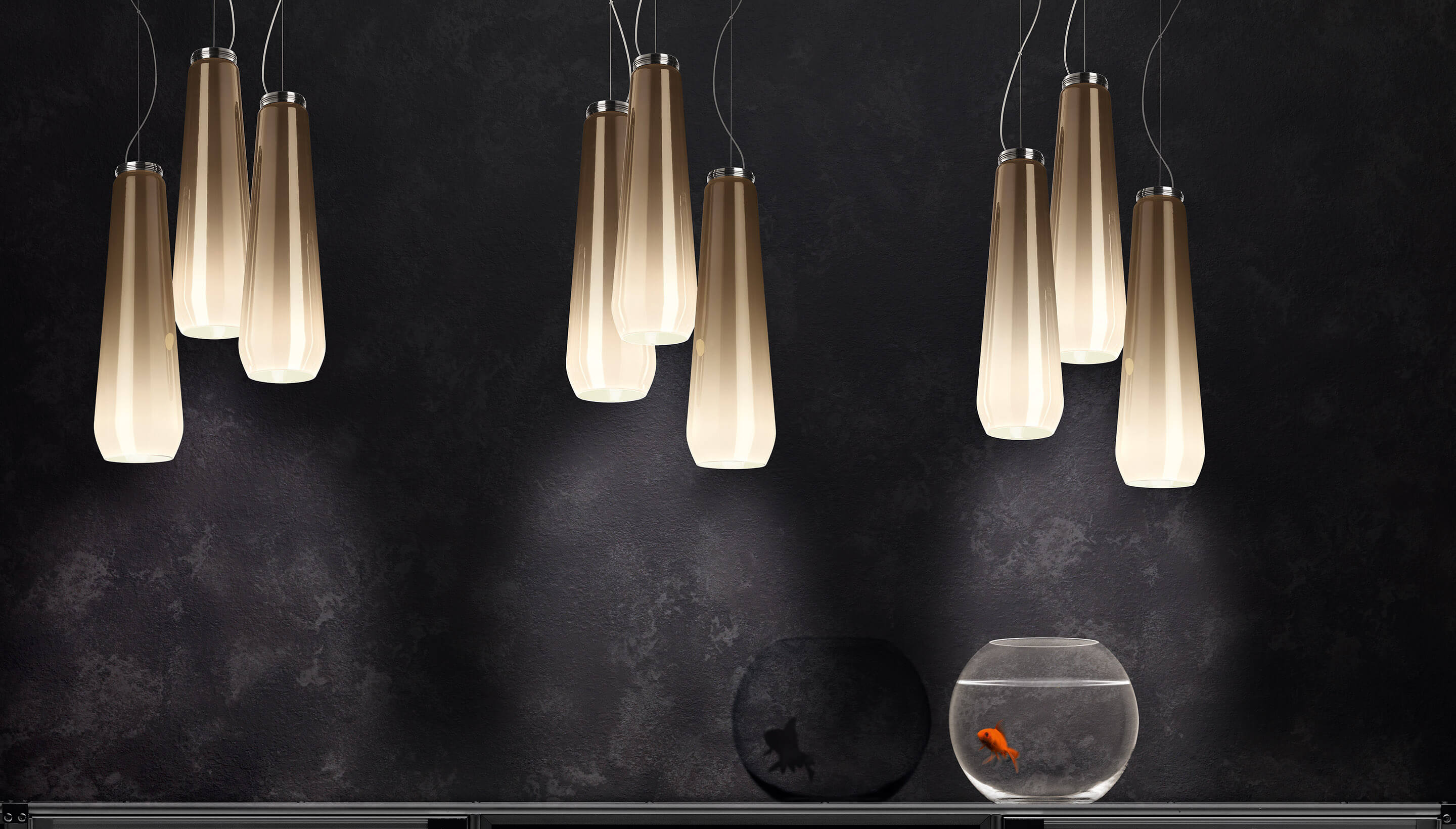Diesel Living With Foscarini Glass Drop | Pendelleuchte