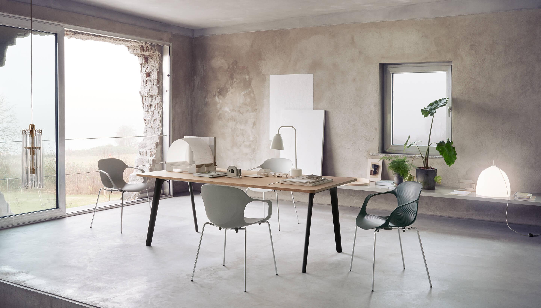 Fritz Hansen Design Stoelen.Sale Fritz Hansen Nap Ks60 Milk White Plastic Chromed Steel