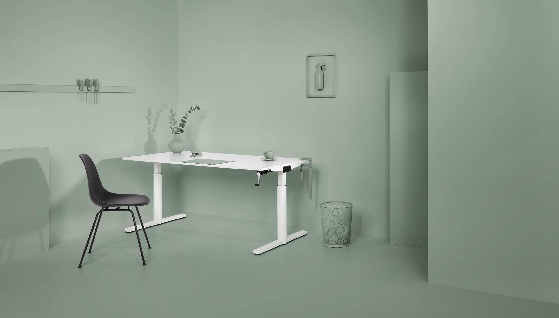 Refurbished Gispen TM Schreibtisch | Rahmen Grau