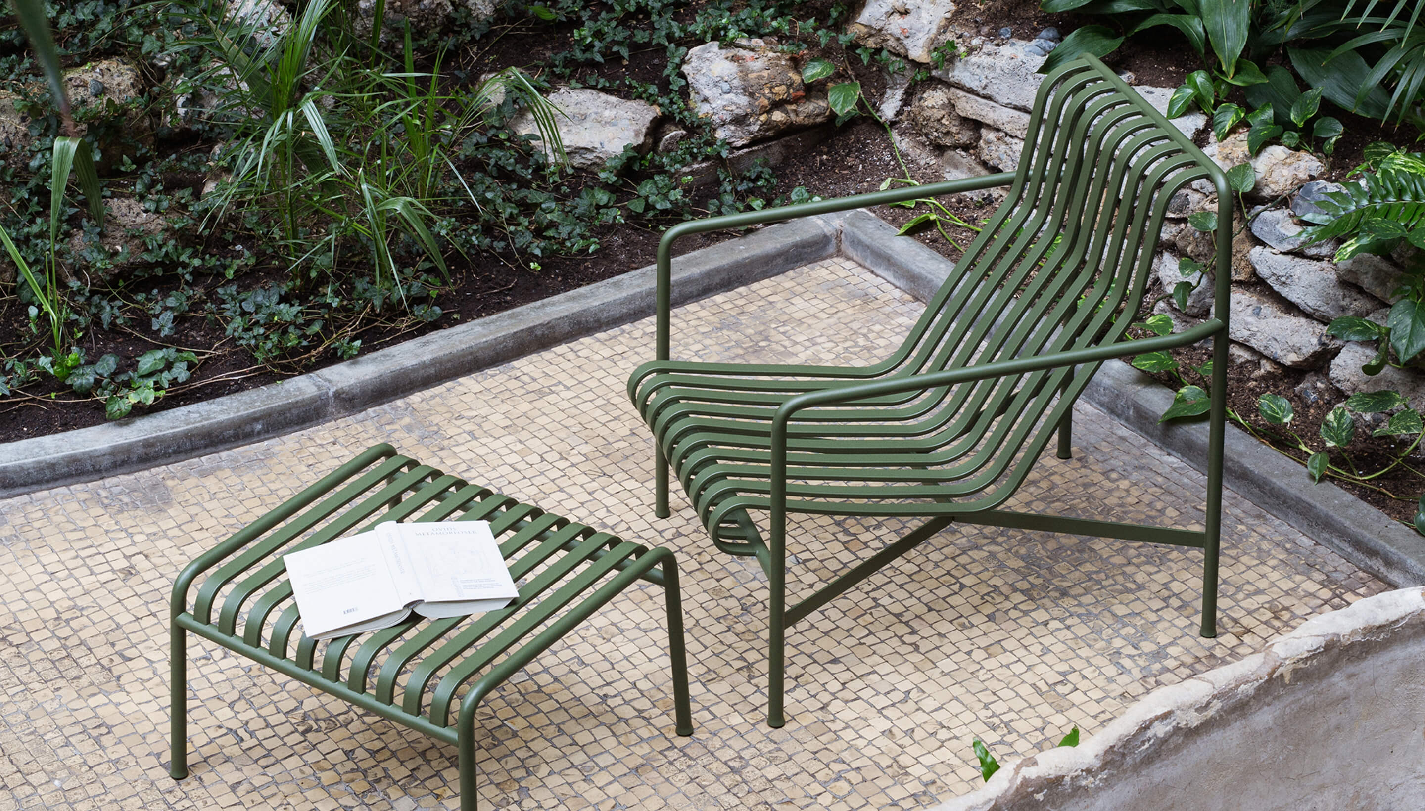 Hay Lounge Stoel.Hay Palissade Lounge Chair High
