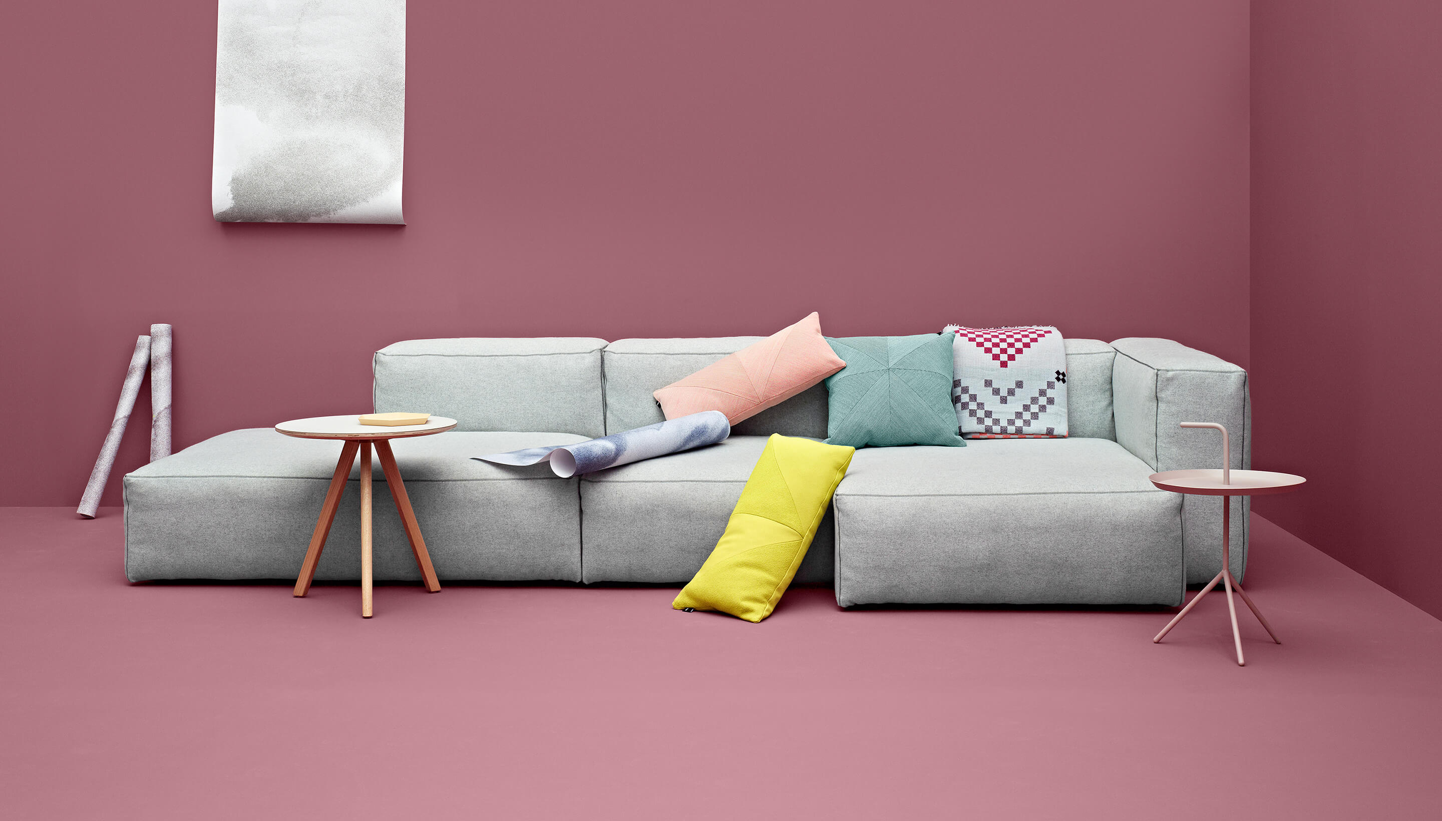 OUTLET | HAY Mags Soft S01 / Ottoman extra small | Weiß Divina Melange 120