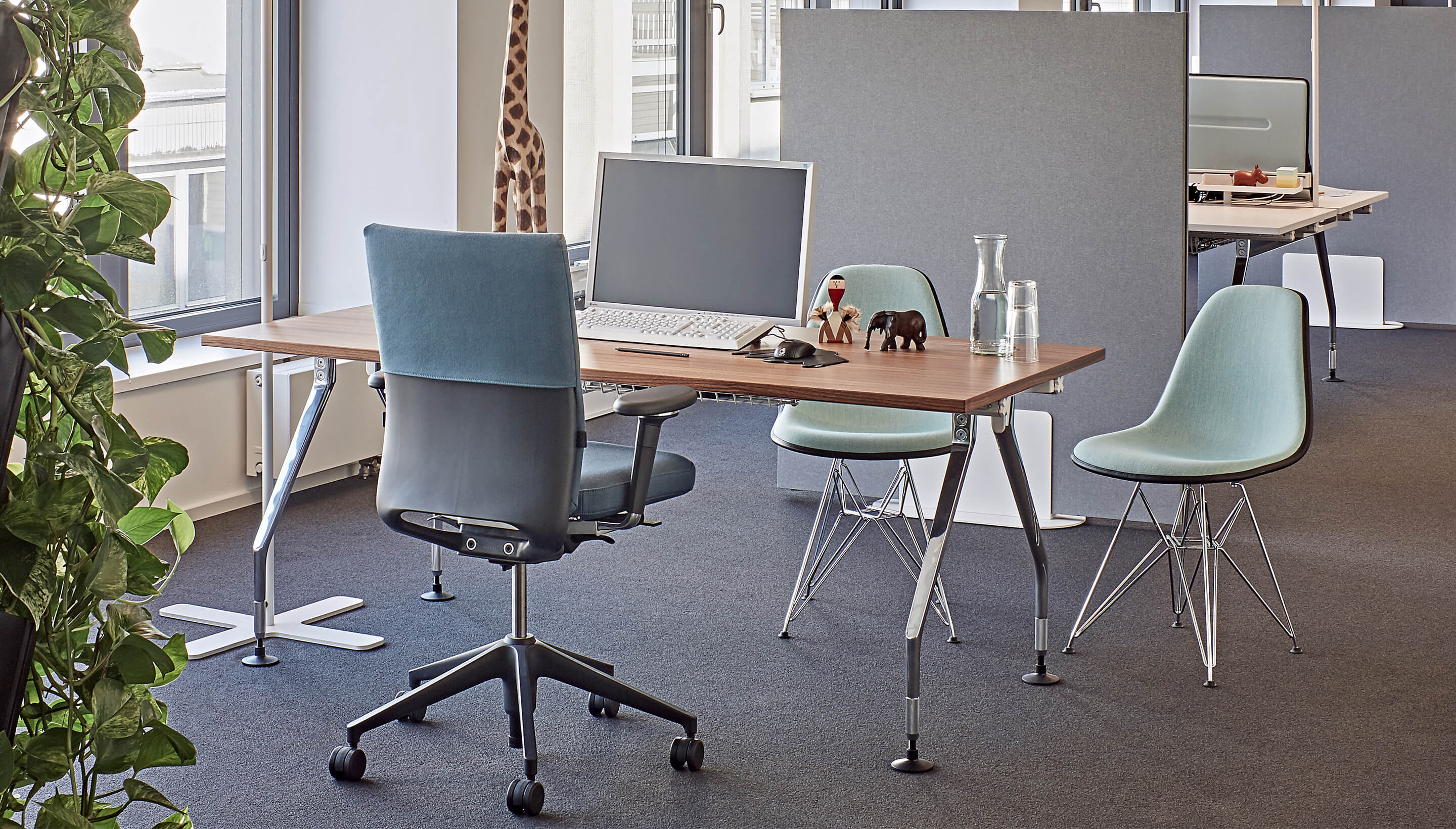 Vitra Vitra Ad Hoc | Single desk | Own table top - Workbrands