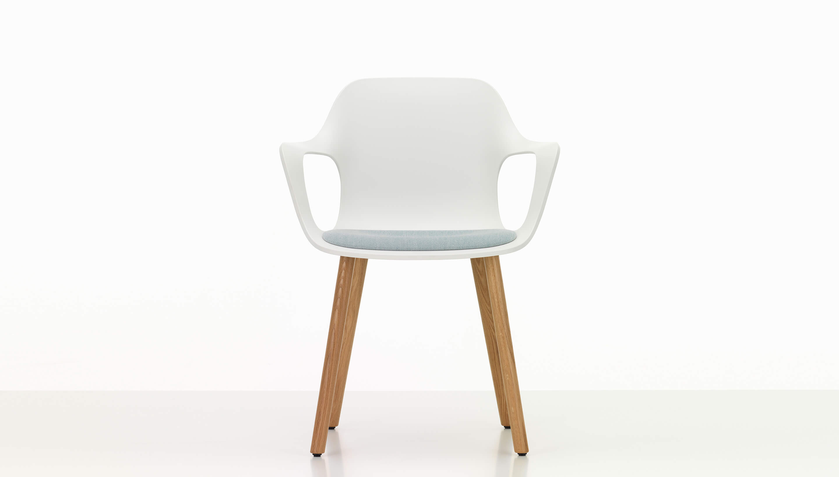 Wooden armchair with cushion - Vitra Hal Armchair Wood With Seat Cushion